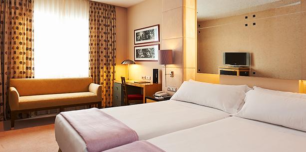 Habitación del Hotel Hesperia Barcelona Presidente