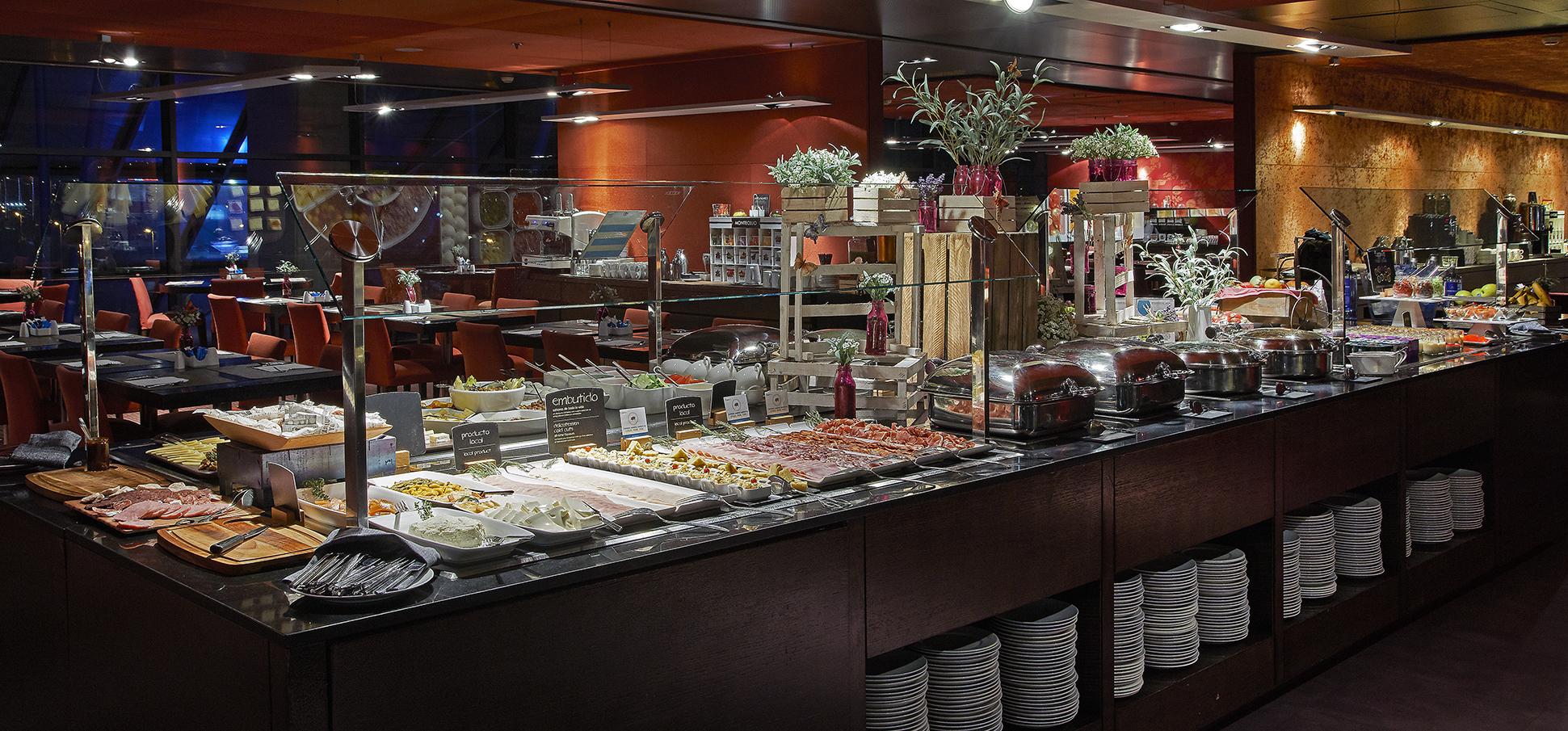 Breakfast at the Hotel Hesperia Tower Barcelona