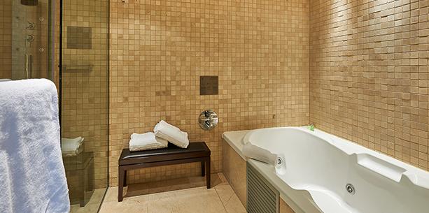 Bath room of the Hotel Hesperia Tower Barcelona