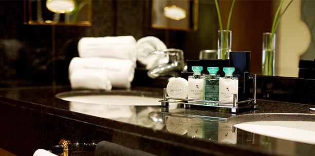Bany de l'habitació de l'Hotel Hesperia Madrid