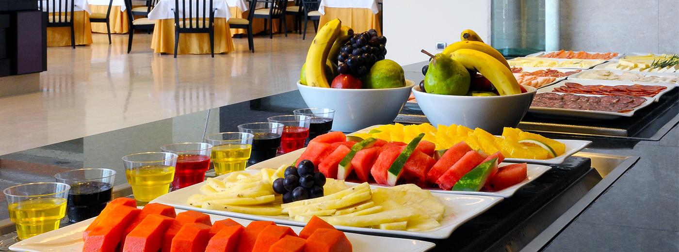 Desayuno del Hotel Hesperia WTC Valencia