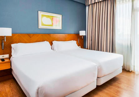Habitació de l'Hotel Hesperia Santiago Pelegrí