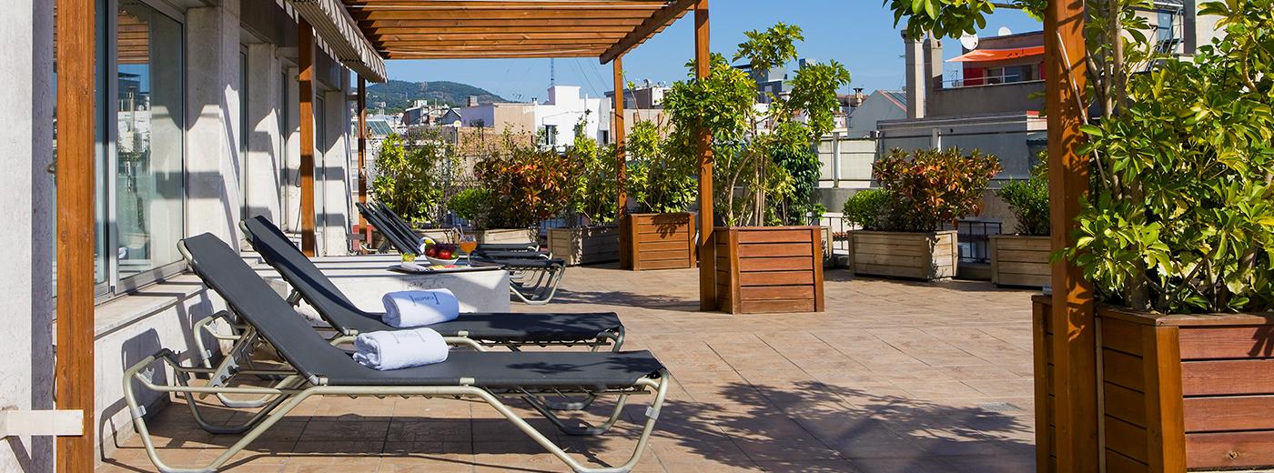 Terraza del Hotel Hesperia Barcelona Presidente