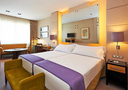 Habitació de l'Hotel Hesperia Barcelona President