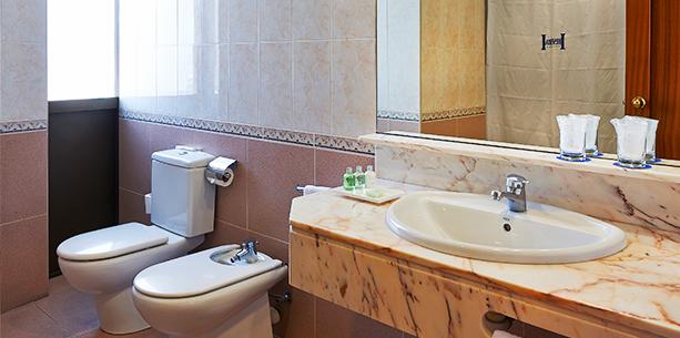 Bath room of the Hotel Hesperia Sant Joan