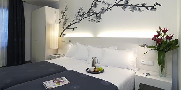 Habitació de l'Hotel Hesperia Barcelona Ramblas