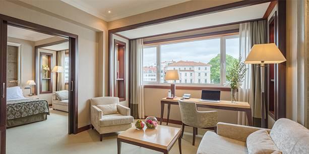 Habitación del Hotel Hesperia A Coruña Finisterre
