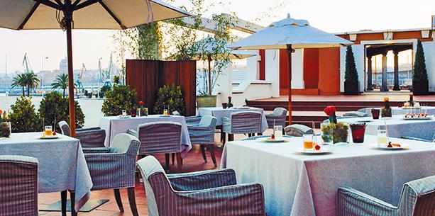 Restaurante del Hotel Hesperia A Coruña Finisterre
