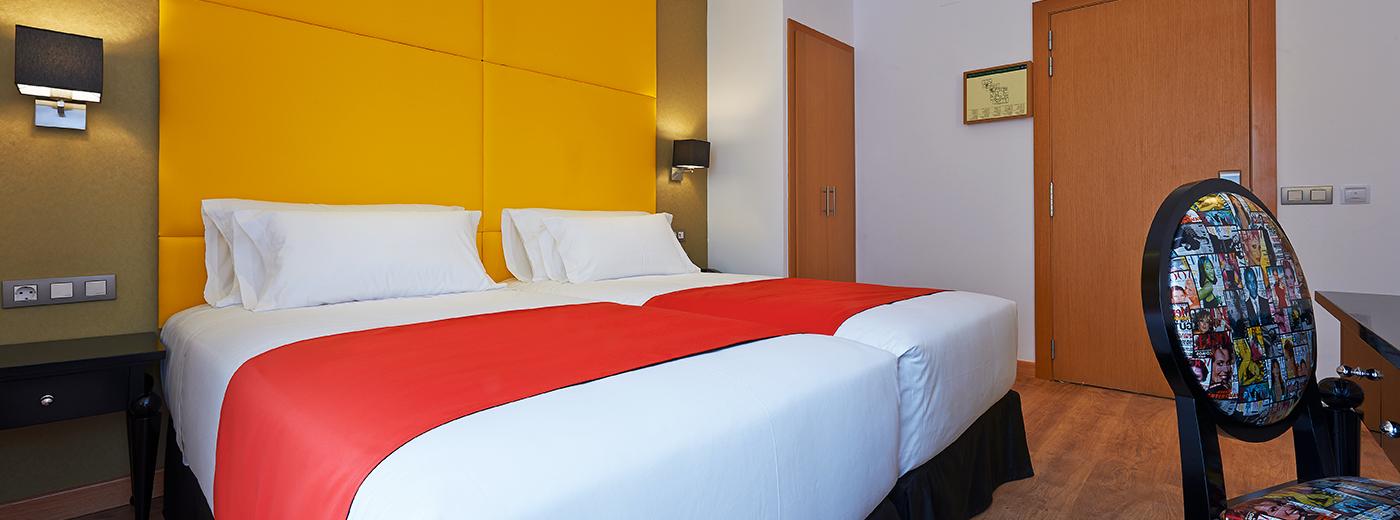 Habitación del Hotel Hesperia Barcelona Barri Goti