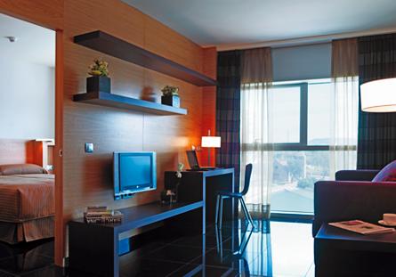 Habitació de l'Hotel Hesperia Barcelona Fira Suites